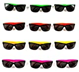 Ifavor123 Neon 80's Style Party Favor Sunglasses for Adults & Kids (24 Pack)