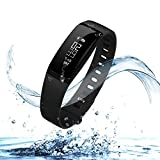 URBST Fitness Tracker,Wireless Smart Activity Trackers Wristband Blood Pressure Heart Rate Monitor Sport Bracelet Pedometer Watch-BLACK