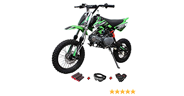 Goggle and Handgrip X-Pro 125cc Motorcycle Bike Dirt Bike 125cc Gas Motorcycle Bike Street Bike Adults Dirt Bike Dirtbike with Gloves