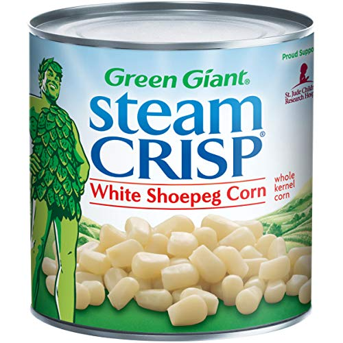 Green Giant SteamCrisp White Shoepeg Whole Kernel Corn, 11 Ounce Can (Pack of 12) (Green Corn)