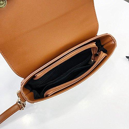señoras de Bolso llaves bordado las Bag mujeres PU la de SSMENG del Messenger del B cuero bolsos C hombro las femenino bolso pequeños hombro Crossbody de Las de piano de de zSSqdT
