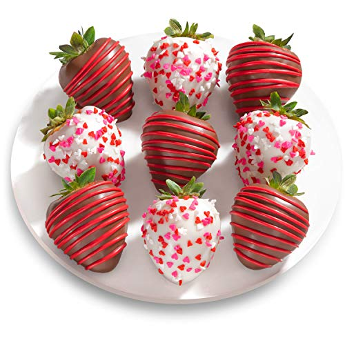Amazon Com 9 Love Bites Chocolate Covered Strawberries Fun Size Grocery Gourmet Food