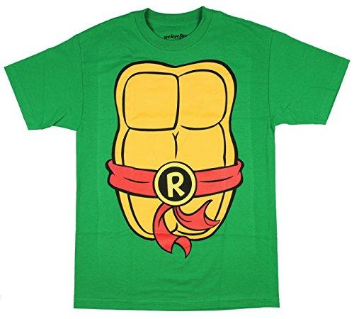 [Teenage Mutant Ninja Turtles Adult Costume T-Shirt - Raph Red (Medium)] (Teenage Mutant Ninja Turtles Raph)