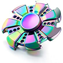 Metal Fidget Spinner With Stainless Steel Bearing for Focusing - Twistech Hand Spinner (Rainbow WindFire)