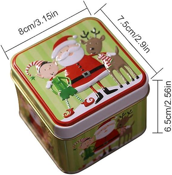 Sarplle Cajas de Galletas Navidad Caja de Galletas metálica ...