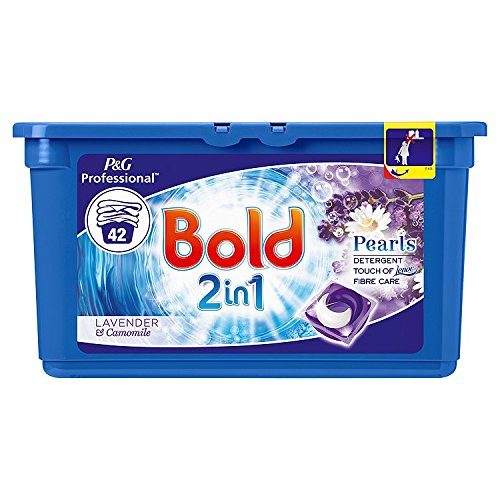Bold 2-in-1 Pearls Washing Capsules Lavender & Camomile, 42 Washes, 1226.4g