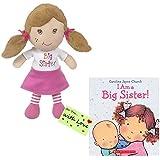 I Am a Big Sister Doll and Book Bundle (Sister / Church / Gift Tag)