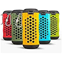 Outdoor Bluetooth wireless Speaker Sport NFC Waterproof Shockproof Dustproof Portable Bluetooth Speakers Deep Bass Subwoofer Sound with Microphone(yellow)