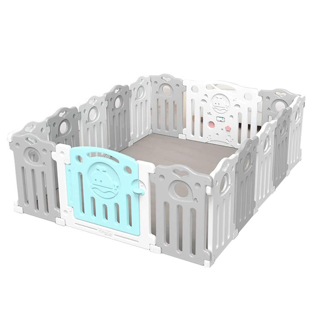 赤ちゃんの囲い 高密度ポリエチレンポータブル子供の遊び場ベビークローラープロテクター洗える屋内遊び場(サイズ:150cm×187.5cm)   B07JLMG7TZ