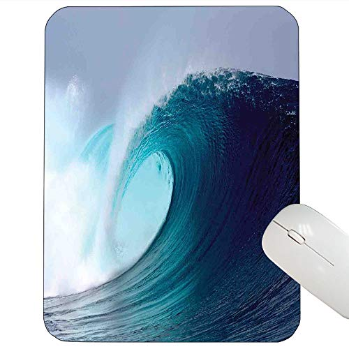 (Ocean Decor Support Mouse pad Tropical Surfing Wave on a Windy Sea Indonesia Sumatra Gaming Mouse pad12