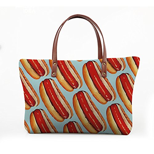 Satchel Women Handbags Purse V6lcc4301al Large Top Foldable FancyPrint Bags Wallets Handle gO8nFZ