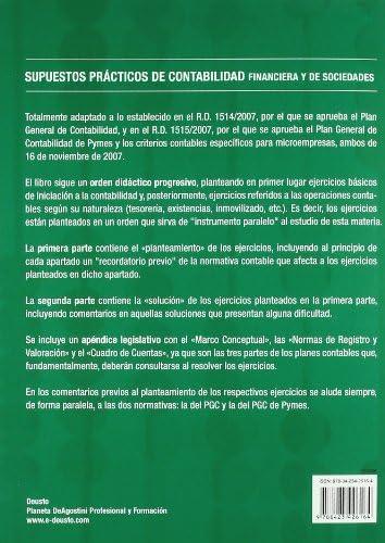 Supuestos Prácticos De Contabilidad Financiera Y De Sociedades 6ª Edición Actualizada Finanzas Y Contabilidad Spanish Edition Omeñaca García Jesús 9788423426164 Books