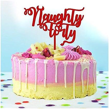 Decoración para tartas de 40 años de Naughty – Decoración ...