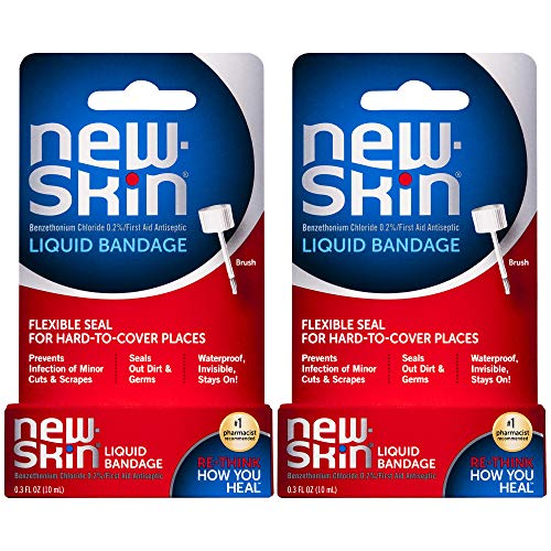 New-Skin Liquid Bandage 0.3 FL Ounce, 2 Count (Packaging May Vary)