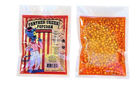(Panther Creek Movie Theater Buttery Popcorn Kits.  25 Pre-Measured 1-Step 6 oz. Packs, Includes Gourmet Popcorn, Oil, Salt, and Extra Butter Flavor (8 oz)