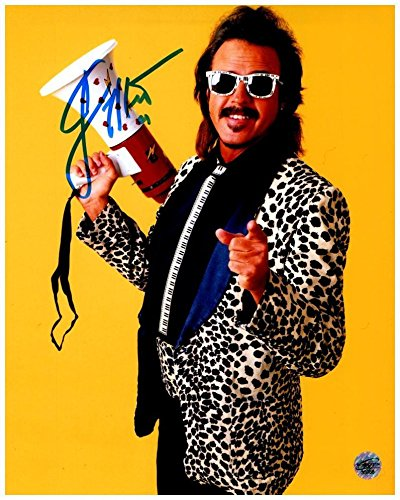 Jimmy Hart in Leopard Jacket Signed 8x10 Photo with