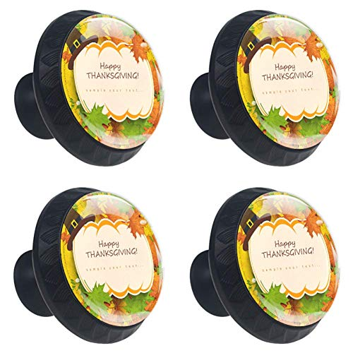 (Idealiy Happy Thanksgiving Turkey Cabinet Door Knobs Handles Pulls Cupboard Handles Drawer Wardrobe 4pcs)