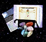Chakra Healing 7 Stone Collection with Azeztulite Cluster from North Carolina Crystal!