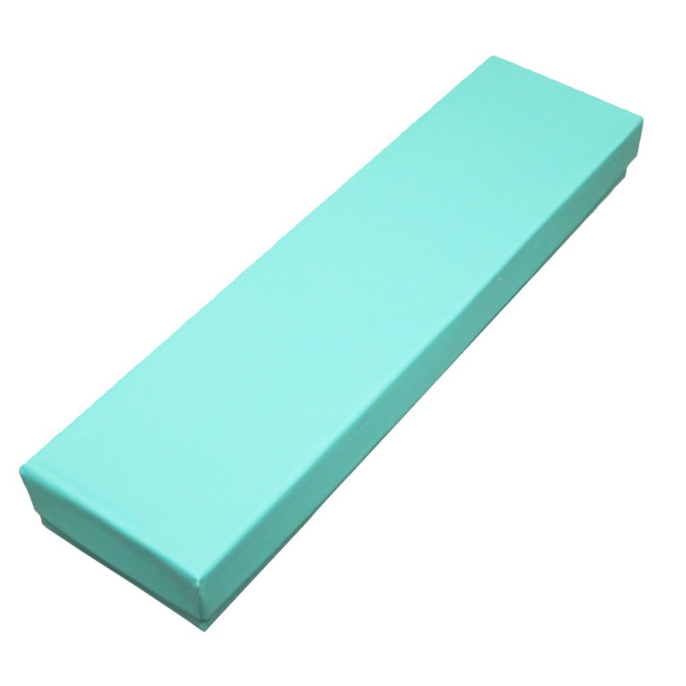 100 pcs Teal Blue Cotton Filled Jewelry Gift Boxes 8x2