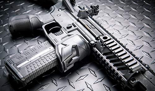 Totrait 4 Piezas Mojo mag Well Grip para AEG M4 M16 AR15 Series Airsoft Accesorios para Police War CS