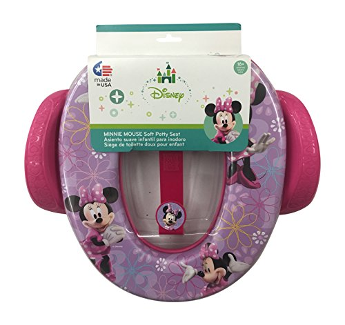 Disney Minnie Mouse Soft Potty Seat with Handles and Hook (Ninja Potty Seat)