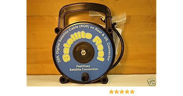 QUALITY PLASTICS SATELLITE REEL RG6 COAX REEL & CONNECTOR
