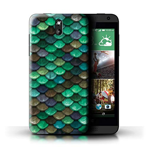 STUFF4 Phone Case/Cover for HTC Desire 610 / Teal/Turquoise Design/Watercolour Mermaid Scales - Teal Cases 610 Htc Desire For