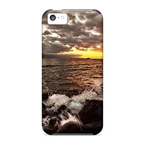 For PykoD1333QFwkV Sunset Over A Rocky Shore Protective Case Cover Skin/iphone 5c Case Cover