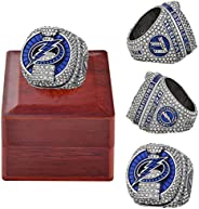 2020 Tampa Bay Championship Ring Official Version with Wooden Box Alloy Ring Replica Puck Stanley Cup Lightnin