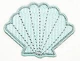 Nipitshop Patches Blue Seashells Shell Pearl