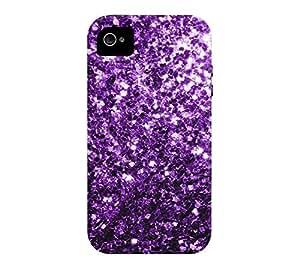 Beautiful Purple glitter sparkles iPhone 4/4s Black Tough Phone Case