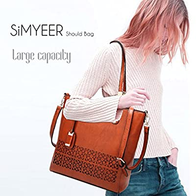 SiMYEER Women Top Handle Handbags Satchel Shoulder Bag for Lady Purse Tote Bag