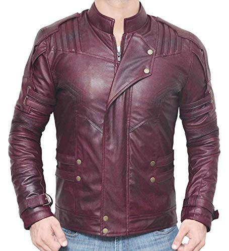 BlingSoul Star Lord Leather Jacket - Chris Pratt Guardians The Galaxy Costume