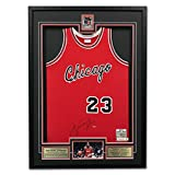 Micheal Jordan Chicago Bulls Autographed Rookie Of The Year 47x34 Jersey Frame