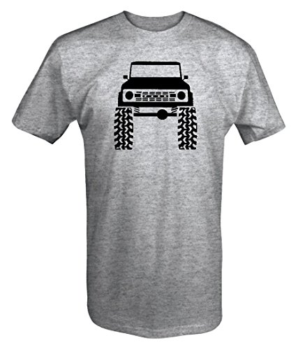 1960's 70's Ford Bronco Lifted Mud Tires Truck T shirt - 4XL