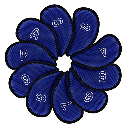 montela golf Blue Meshy Golf Iron Covers Fit Most Irons. by montela golf (Image #1)