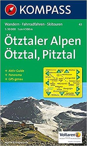 Pitztal Karte.ötztaler Alpen ötztal Pitztal Wander Rad Und Skitourenkarte