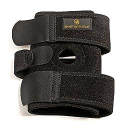 NeoProMedical Knee Support - Neoprene Breathable Knee Brace– Adjustable Size, Black Color