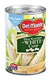 Del Monte, Made with Fresh Cut Specialties (Harvest Selects), Whole Kernel, Sweet White Corn, 15.25oz Can (Pack of 6)