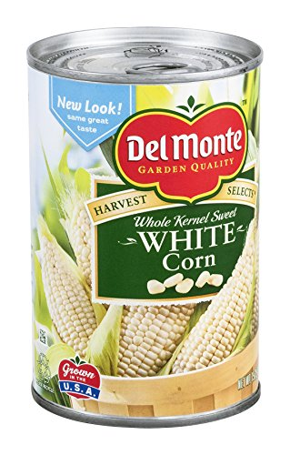 Select Harvest (Del Monte, Made with Fresh Cut Specialties (Harvest Selects), Whole Kernel, Sweet White Corn, 15.25oz Can (Pack of 6))