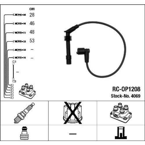 NGK 4069 Juego de cables de encendido