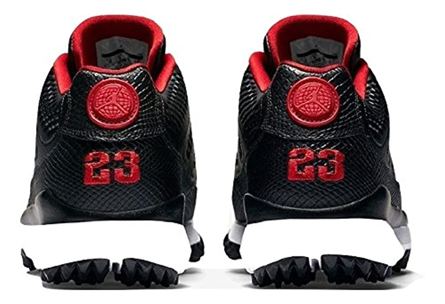 0d33b4e86595d6 NIKE. Men s Air Jordan IX 9 Retro Golf Cleat Black Red Size 9.5. Back.  Double-tap to zoom