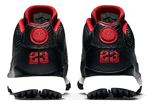 detailed look afdb3 cf5a0 Nike Men s Air Jordan IX 9 Retro Golf Cleat Black Red Bred 833798 002 Size  10