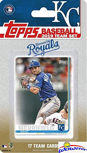 Kansas City Royals 2019 Topps Baseball EXCLUSIVE Special Limited Edition 17 Card Complete Team Set with Whit Merrifield, Salvador Perez & Many More Stars & Rookies! Shipped in Bubble