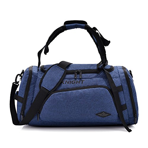 3-Way Fitness Sport 20-35L Gym Bag Travel Duffel Backpack with Shoes Compartment for Women Men Overnight Travel Tote Bag (Blue) Review
