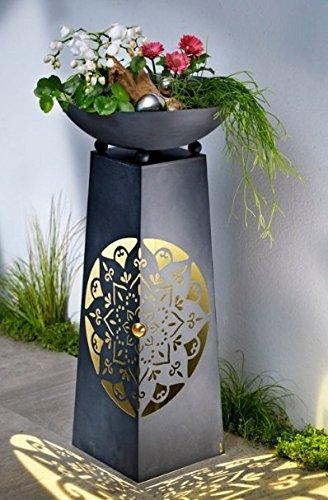 Pflanzsäule Mit LED Beleuchtung Säule Pflanzschale Magic Design Garten Deko  NEU