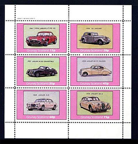 (Grunay Scotland Local Post Classic Automobiles Miniature Sheet of 6 Postage)