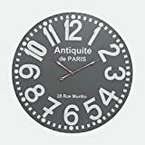 Cheap Sterling Industries 171-009 24″ Wall Clock, Antique/Grey Finish