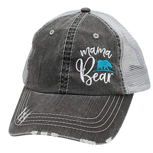 Mama Bear Women's Embroidered Mom Trucker Hats Caps