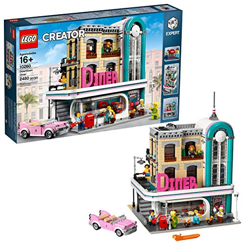 LEGO Creator Expert Downtown Diner 10260 Building Kit, Model Set and...
